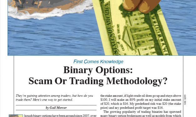 Stocks & Commodities:  Binary Options:  Scam or Trading Methodology