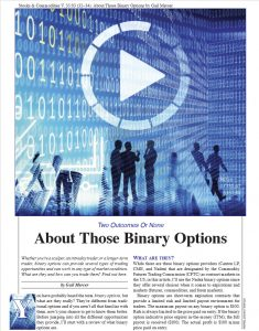 Stocks & Commodities article gail mercer About Those Binary options