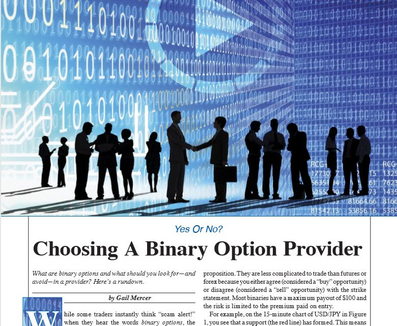 S&C:  Choosing a Binary Options Provider