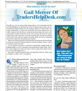 Stocks and Commodities Interview Gail Mercer of TradersHelpDesk
