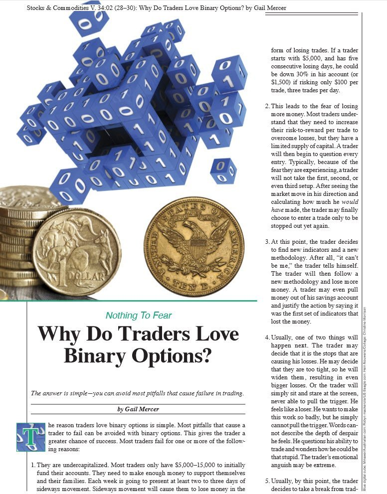 stocks & Commodities article Why do traders love binary options